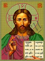 Схема для вышивки бисером Христос Спаситель КМИ 4002