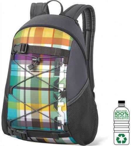 Городской мужской рюкзак с яркой фасадной клеточкой Dakine WONDER 15L belmont 610934843255 черный
