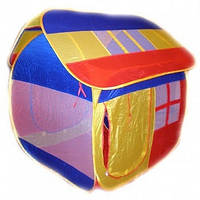 Палатка домик для детей 905L: сетки, 2 входа, текстиль, 130х115х145 см, сумка 40х45 см, 3+ лет