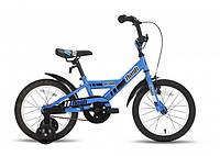 """Детский велосипед PRIDE FLASH сине-черный глянцевый, 16"""" (BB 15)"""