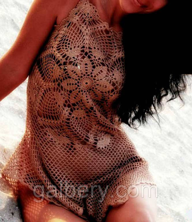 Купить Вязаную Пляжную Тунику