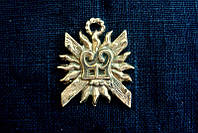 Брошь Бейдж герб бургундских герцогов