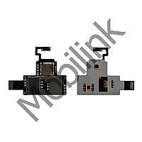 Шлейф с держателем (разъемом) SIM карты и карты памяти HTC Desire V T328w