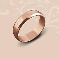 Золотое обручальное кольцо. Красное золото. Евро модель. Ширина 3 мм.
