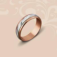 Золотое обручальное кольцо комбинированное