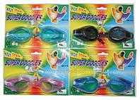 Очки для плавания детские (латекс на блистере, беруши, зажим для носа)