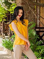 Стильная летняя блуза с коротким рукавом