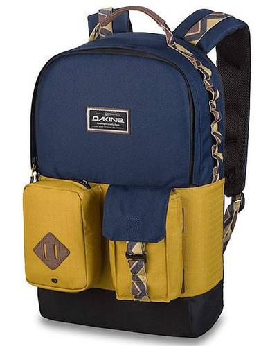 Модный городской рюкзак с откидным карманом Dakine MOD 23L darwin 610934902174 синий/желтый