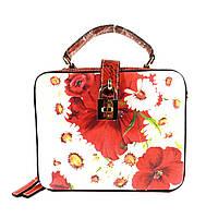 Стильная женская, молодежная сумочка Velina Fabbiano 61314 с цветочным принтом