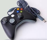 Игровой джойстик Xbox 360 для ПК DJ-360: Windows XP/Vista/Windows 7, 10 кнопок, USB, провод 2,7 м