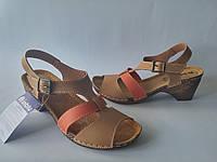 Женские стильные песочные босоножки на каблуке, ортопедическая стелька 37 Inblu VL14ET