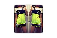 Летний спортивный костюм  Adidas  футболка+ шорты р.48-50 и 50-52