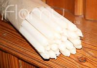 Церковная свеча, длинная, белая. В комплекте 25 свечей.