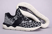 Мужские черно-серые беговые кроссовки Adidas Tubular Runner Prime Knit (спортивные новинки лето, весна, осень)