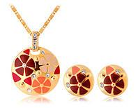 Набор «Цветочная поляна» декорированный цветами и кристаллами Сваровски, купить