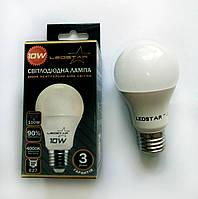 Светодиодная лампа LEDSTAR, 10W, E27, A60, 900lm, груша, 4000К, матовая