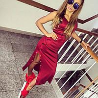 """Незабываемое, модное, облегающее платье миди """"Кнопки"""", РАЗНЫЕ ЦВЕТА"""