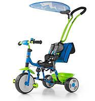 Велосипед Boby Deluxe 2015 с подножкой ТМ Milly Mally (синий с зеленым)