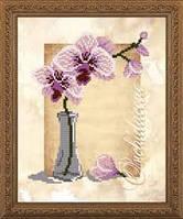 """Схема для вышивки бисером """"Орхидеи"""", 25*20 см, VКA4157"""