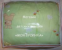 """Одеяло и подушка для новорожденных в кроватку- """"Мишка с шариком"""""""