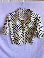 Рубашка-топик женская горох