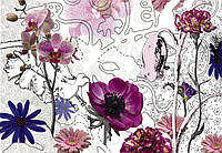 Фотообои бумажные на стену 368х254 см 8 листов: Фиолетовые цветы. Komar 8-887