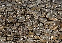 Фотообои бумажные на стену 368х254 см 8 листов: Каменная стена. Komar 8-727