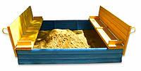 Детская песочница для детского сада 200х200 см Цветная