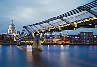 Фотообои бумажные на стену 368х254 см 8 листов: Мост Миллениум, Лондон. Komar 8-924