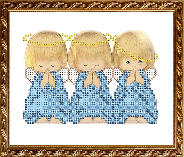 """Схема для вышивки бисером """"Три"""