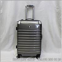 Валіза дорожня на колесах Eminsa ET230-L, сіра / Чемодан дорожный на колесиках Эминса (Емінса) ET230-L, серый