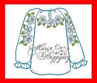 """Вышиванка сорочка детская для девочки, вышивка бисером, домотканое полотно, """"Цветы"""""""