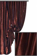 Бархат однотонный коричневый