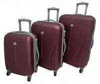 Набор дорожных чемоданов на колесах с ручкой 3в1 (Поликарбонат) (Маленький, Средний, Большой)