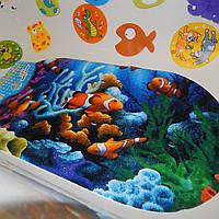 Антискользящий коврик в ванную и душевую кабинку Подводный мир