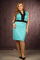 Женское модное платье больших размеров (рр 48-94) без рукавов