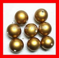 Бусина жемчужная, акрил, цвет металлическое золото, 10 мм