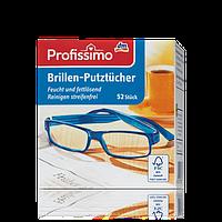 Салфетки для очистки очков Profissimo, 52 шт