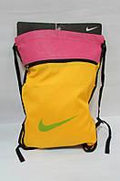 Сумка спортивная Nike (3022-3) желтая с розовым код 0355А