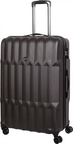 Практичный большой чемодан на 4-х колесах 102 л Vip Collection Barbados 28 Anthracite BBS.28.grey, темно-серый