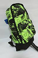 Рюкзак Adidas (1989-001) черно-салатовый код 0358 А