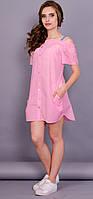 Клариса. Платье рубашка. Розовый.(Р)., фото 1