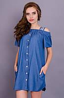 Клариса. Платье рубашка. Джинс.(Р)., фото 1