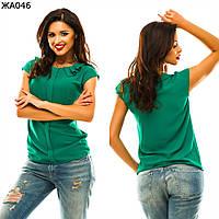 Женская блуза однотонная  42-48