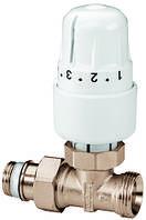 Вентиль прямой на обратную подводку RTL в комплекте с термостатической головкой