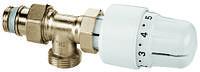 Вентиль угловой на обратную подводку RTL в комплекте с термостатической головкой