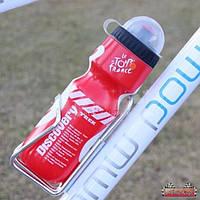 Спортивная бутылка пластиковая Ride Life / цвет: красный / емкость 650 мл.