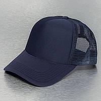 Темно-синяя кепка тракер