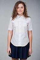 Белая блуза-рубашка школьная ( р. 36-40)