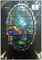 Фольга эффект битого стекла самоклеящаяся №16